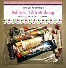 PERSONALISED BIRTHDAY LOLLY/LOOT BAG & TOPPER - STRIPES/SPOTS