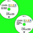 LEARN MICROSOFT OFFICE 2010 EFFECTIVE VIDEO TUTORIAL NEW 2 PCDVD WORD POWERPOINT