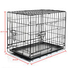 """24 30 36 42 48"""" Kennel Dog Crate Pet Carrier Cage Animal House w / Divider &Tray"""