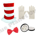 ADULTS CHILDRENS CAT IN THE HAT BOOK WEEK DR SEUSS FANCY DRESS COSTUME LOT.
