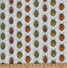 Cotton Lady Bugs Insects Beetles Cotton Fabric Print by the Yard D485.18