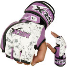 MMA Grappling Gloves UFC Cage Boxing Fight MRX Punching Glove Rex Leather Purple