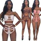 Women Cut Out Push Up Bikini Padded Bra Swimwear Beachwear Sexy Swimsuit DZ88
