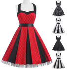Vintage Retro 1950'S Swing Pinup Housewife Party Prom Dress PLUS SIZE