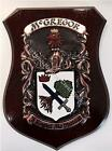 HEFFERAN to HESSION Family Name Crest on HANDPAINTED PLAQUE - Coat of Arms