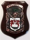 MATHIS to MC CALL Family Name Crest on HANDPAINTED PLAQUE - Coat of Arms