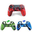 For PS4 Controller Silicone Rubber Gel Skin Grip Case + Thumbstick Cover