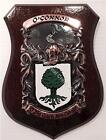 Briggs to Buchanan Family Handpainted Coat of Arms Crest PLAQUE Shield