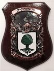 Finnan to Flannery Family Handpainted Coat of Arms Crest PLAQUE Shield