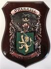 Hefferan to Hession Family Handpainted Coat of Arms Crest PLAQUE Shield
