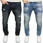 Eto Mens Designer Branded Ripped Abraised Distressed Tapered Fit Jeans, BNWT