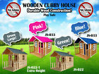 Wooden Cubby House Outdoor Playhouse Durable Wood Construction No Glass Safety