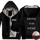 2015 Movie The Martian NASA Bring Him Home Super Warm Fleece Winter Hoodies Coat