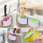 Suction Cup Base Kitchen Wash Tool Dish Brush Sponge Sink Draining Rack Holder H