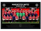 Manchester Utd FC Black Wooden Framed Team Photo 2015/16 MUFC Poster 91.5x61cm