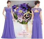 KATIE Violet Lace Full Length Prom Evening Cruise Ballgown Dress UK Sizes 6 - 18