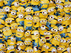 FAT QUQRTER MINIONS FABRIC & INSIDE OUT  VARIOUS DESIGNS