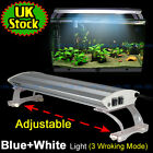 Aquarium Fish Tank Overhead T5 White Blue Light Lighting Aluminum Lamp 3 Model