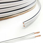 Loud HiFi Speaker Cable Wire Quality Oxygen Free OFC White - 5m 10m 20m 50m 100m