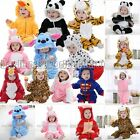 Halloween Kids Boys Girls Animal Rompers  Cartoon Flannel Clothes Baby Jumpsuit