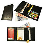 man wallet card holder visit photo currency leather synthetic new