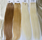 "Virgin Human Hair Straight Weft Extensions 16""-26"" 100g One Bundle Unprocessed"