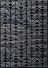 Black & Gray Transitional Area Rug Lines Triangles Abstract Large Rugs Carpet