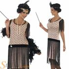 Coco Flapper Costume Ladies 1920s Charleston Gatsby Fancy Dress Adult Size 8-18