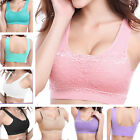 Sexy Women Ladies Fitness Yoga Workout Top Seamless Racerback Padded Sports Bra