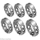 1PC Men's New Fashion Silver Plated Stainless Steel Can Lettering Rings
