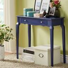 Vintage Writing Desk Wood Colored Drawer Table Accent Space Saver Home Furniture