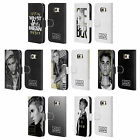 OFFICIAL JUSTIN BIEBER BLACK AND WHITE LEATHER BOOK CASE FOR SAMSUNG PHONES 1