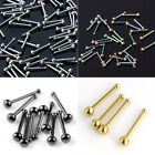 10x Stainless Steel 20g Ball Straight Stud Barbell Nose Rings Piercing Punk Rock
