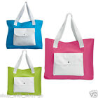Ladies Two Tone Reusable Shoulder Bags Messenger Shopping Beach Handbag Totes