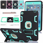 Heavy Duty Rubber Stand Rubber PC Back Armor Hard Case Cover for iPad Mini 2 3 4