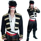 Mens Adam Ant New Romantic Fancy Dress Costume 80s Pop Star Prince Charming