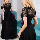 Womens Lace Long dress Short Dress Evening Party Cocktail Formal ball gown B92