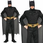 Deluxe Mens Batman Costume Dark Knight Fancy Dress Musclechest Halloween Outfit