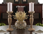 "6 lot rustic whitewashed turned wood 10"" Candle holder wedding table centerpiece"
