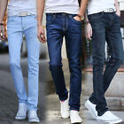 Classic Mens Stylish Straight Slim Fit Jeans Pants Casual Design Denim Trousers