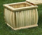 Pressure Treated Pine Outdoor Curved Wood Planter Amish M...