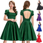 Women Vintage 50s Pinup Swing Evening Prom Cocktail Party Short Dress