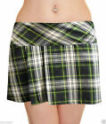 Ladies Golf Mini Tartan Skirt Club Visor Hat Pub Socks Fancy Dress Party ALL IN1