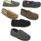 Mens Stag Embroidered Full Back Slippers Shoe Sizes 6-11 Dad Father Gift