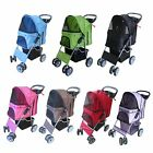 Pet Travel Stroller Pushchair Pram Jogger For Dogs Puppy Cat With Swivel Wheels
