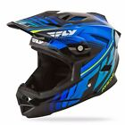 NEW FLY RACING DEFAULT BMX DOWNHILL MTB ADULT HELMET BLACK/ BLUE ALL SIZES
