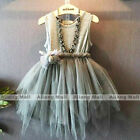 Baby Girls Sleeveless Dress Toddler Princess Clothing Party Kids Wedding Clothes
