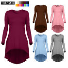 [DRSKIN] Women Comfy Loose Fit Long Tunic Top With Various Hem