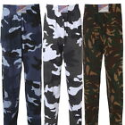 Men's Camouflage Army Military Training Gym Tracksuit Elastic Bottoms Trousers