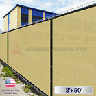 4'x50' Green/Black/Beige Fence Privacy Screen Wind Mesh Fabric Cover Shade w/Zip